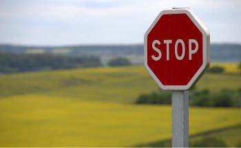 stoptober stop sign