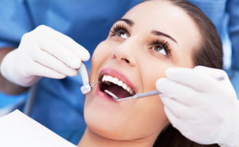 a lady during a dental consultation